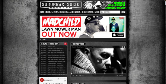 Suburban Noize Records - Custom Web Development